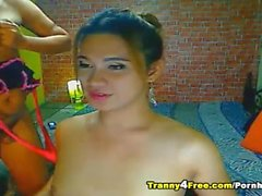Horny Tranny Enjoy Sucking Her Partner Cock