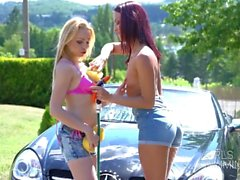 jantes humides nettoyeurs trio - girlsrimming - anal