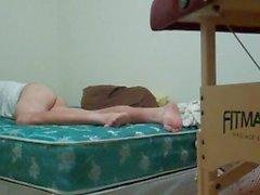 Hd-mirar mis pies mientras que joroba mi video bed-full