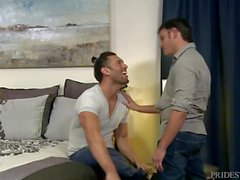 MenOver30 Gorgeous Latino Couple Playful Passion