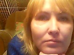 Hot 48 yo Russisch reifen Tamara spielen auf skype