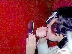 Masked Glory Hole Swinger Wife 2