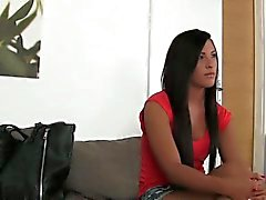 Tanned Czech amateur banged and creampied on casting