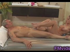 Nuru massage with busty Jenavev Jolie