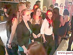 Real euro amateurs show upskirt on dancefloor