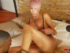 Big Tits Milf Gets Double Interracial Penetration