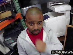 Dudes recta trío gay en la tienda