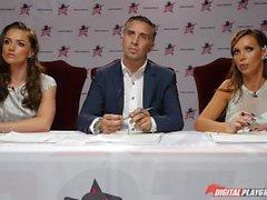 DP estrelas 3 - Brunette russo Estrela Pornô Adriana Chechik Deep Throat Boquete
