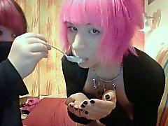 Kuumia Kani Boy Cum syöminen Suloinen Sexy