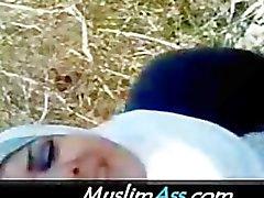 Muçulmana árabe Dama de Branco o Hijab é uma porcaria sagrada 3 de polegada Pênis Árabes