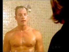 Battlestar Galactica's Tahmoh Penikett in nude shower scene Hot guy!
