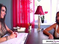 Jessica Jaymes & Ava Addams lesbian fuck fest, big booty