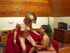bellas las lesbianas comprobación de el coño