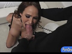 Huge boobs whore Sandee Westgate chained and fucked rough