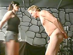 Extreme dominatrix bizarre balls kicking