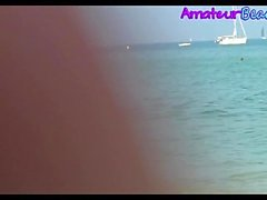 Nudist Amatör Voyeur Beach Närbild Video
