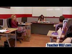Professor peituda (Foxxx diamante) Em Hard Sex Act Com Student filme-18