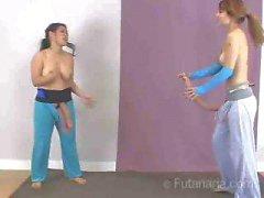Wrasslin Lan And Nikki Wrestling Cumshot