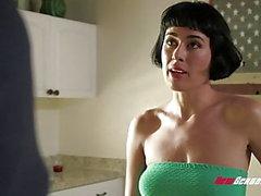 Hacer trampa esposa de oliva de cristal grueso cogiendo a Dick