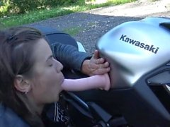 Hot French Teen Squirting On Your Motorcycle - Chaude Motarde Vic Alouqua
