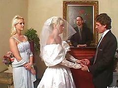 De bruid Dubbele Blowjob