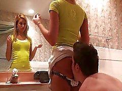 Bathroom ass worship