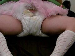 Diapered sissy beerwench locked in chastity