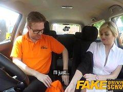Fake Driving School Posh busty blonde examinador foda