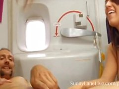 Sunny Lane Facialized Com Cum on a Plane