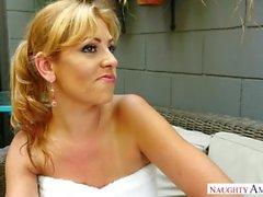 Blonde step mom Jazmyn gives sex lesson