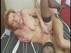 Brunette Mature Chick Sucking Dick