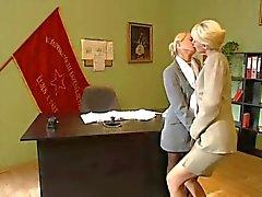 Lésbicas Escritório loira