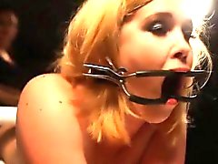 Gagged subs pantyhose cut off