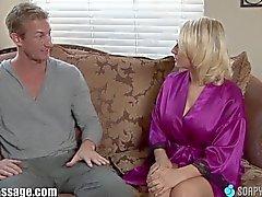 SoapyMassage Busty MILF Gives Soapy Foot-Job