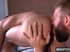 Big dick gay spanking with cumshot