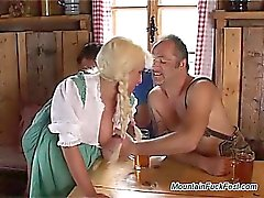 german heidi needs hard double penetration