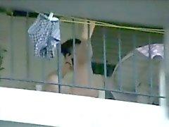 смешанная Balcon balkondaki komsular