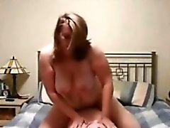 Chubby Amateur With Big Tits Riding Cock