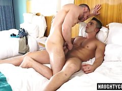Latin gay oral sex with creampie