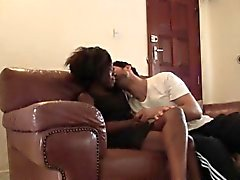 Thick white dick makes African hottie Azalee cum like crazy