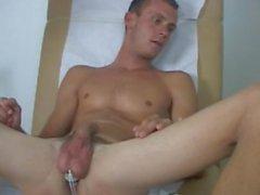Doktor sınav ve çıplak sırasında genç kapalı yuvalar