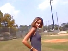 Woman Strips at Baseball Field