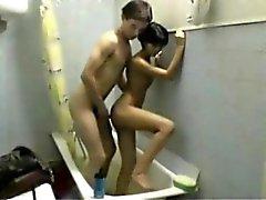 Amateur Couple Awesome Bathroom Fuck