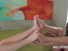 Foot Fetish Delight Med Ariella Ferrera och Lynn Vega