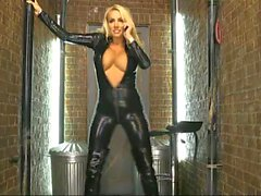 Dannii Harwood Latex Catsuit