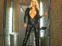 Dannii di Harwood in lattice di gomma Catsuit del