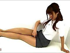 Sexy азиатских колготки ног и ступней Нейлоны
