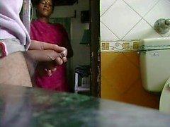 Indische Maid Horloges Hem Jack Off