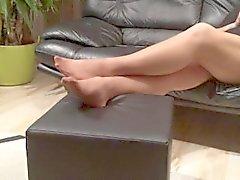 Long воспроизведения нейлоновые ног моей Stepmom