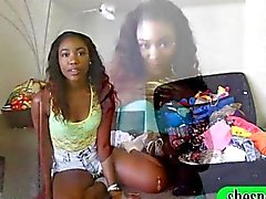 Attractive black chick show off her booty then screwed